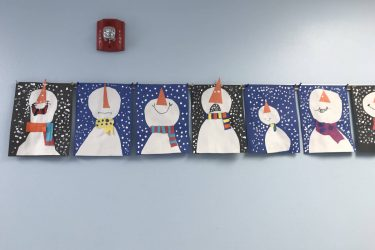 Winter art projects at ILS Gaylord